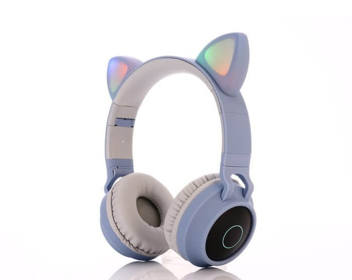 Cute Cat Bluetooth 5.0 Headset Wireless Hifi Music Stereo Bass Headphones LED Light Mobile Phones Girl Daughter Headset For PC 10