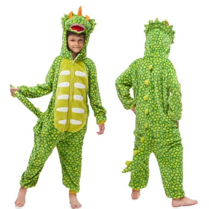 Kids Kigurumi Onesie Unicorn Pajamas For Children Animal Dinosaur Blanket Sleepers Baby Costume Winter Boy Girl Licorne Jumspuit 2