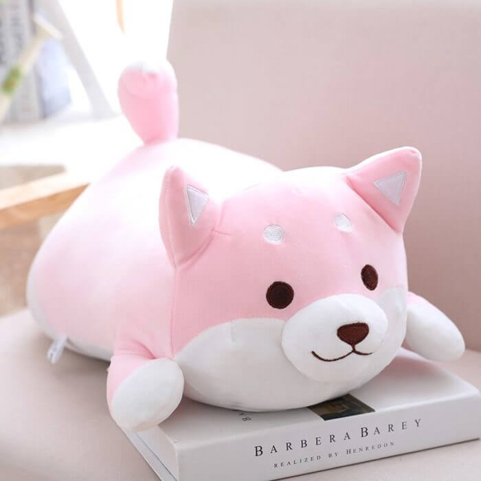 36/55 Cute Fat Shiba Inu Dog Plush Toy Stuffed Soft Kawaii Animal Cartoon Pillow Lovely Gift for Kids Baby Children Good Quality 5