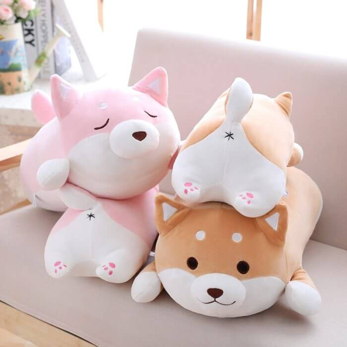 36/55 Cute Fat Shiba Inu Dog Plush Toy Stuffed Soft Kawaii Animal Cartoon Pillow Lovely Gift for Kids Baby Children Good Quality 1