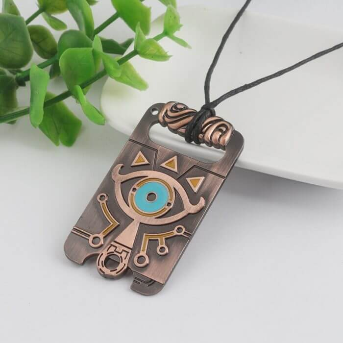 The Legend of Zelda Sheikah Slate Breath of the Wild Keychain Cosplay Pendant Keyring Key Chain Necklace 1