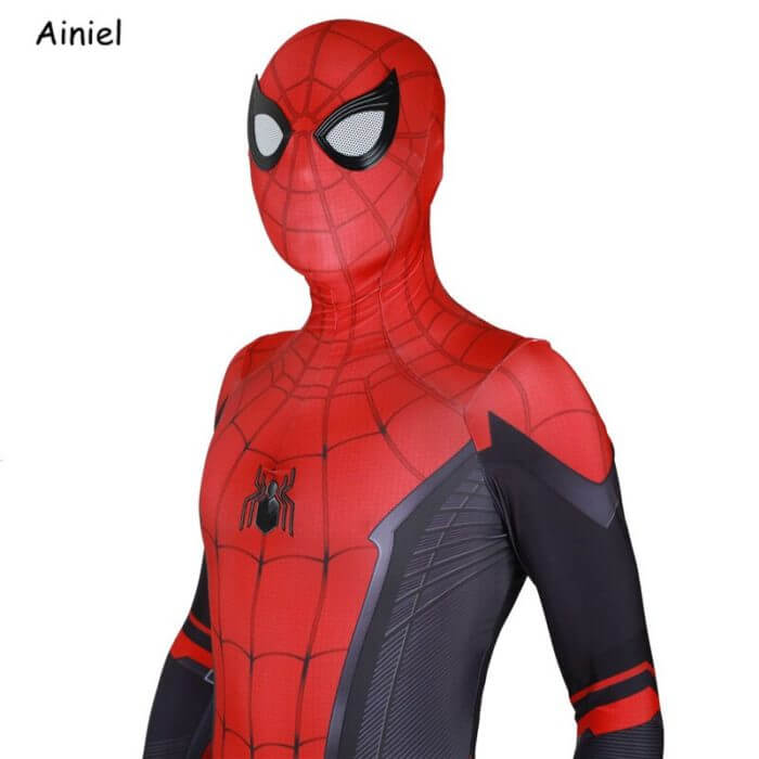 Adult Spider Suit Far From Home Peter Parker Cosplay Costume Mask Zentai Spiderman Superhero Jumpsuits Halloween Man Kids 6