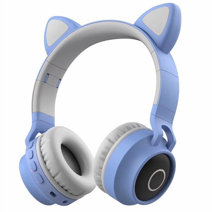 Cute Cat Bluetooth 5.0 Headset Wireless Hifi Music Stereo Bass Headphones LED Light Mobile Phones Girl Daughter Headset For PC 6