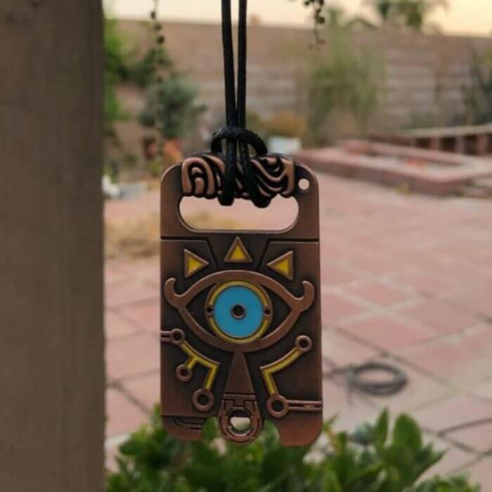 The Legend of Zelda Sheikah Slate Breath of the Wild Keychain Cosplay Pendant Keyring Key Chain Necklace 3