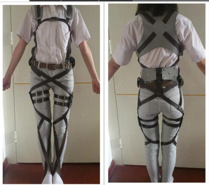 Attack on Titan Shingeki no Kyojin Recon Corps Harness belt hookshot Costume Adjustable Belts cosplay belts free shipping 2