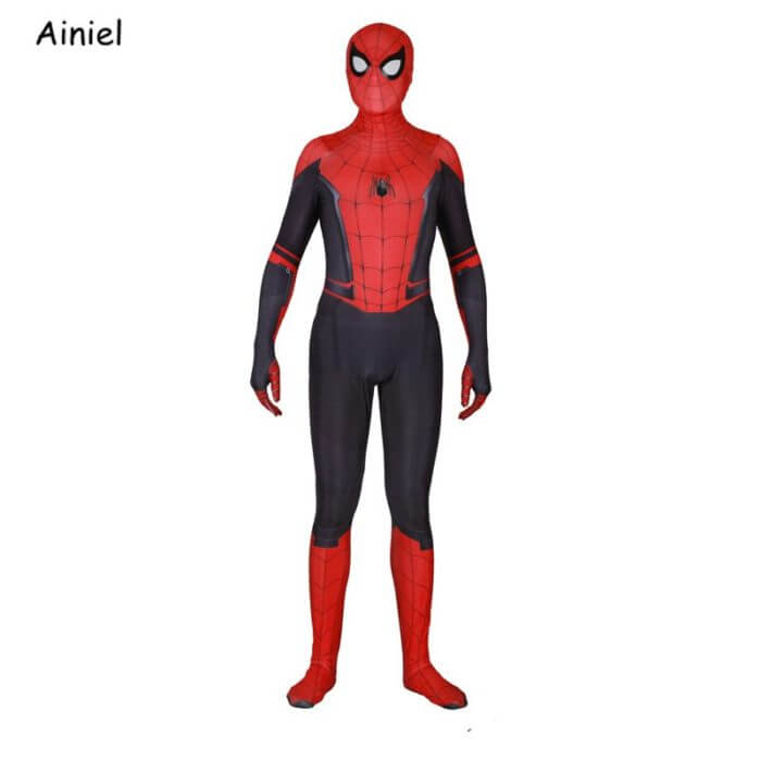 Adult Spider Suit Far From Home Peter Parker Cosplay Costume Mask Zentai Spiderman Superhero Jumpsuits Halloween Man Kids 2