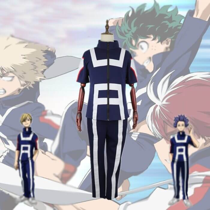 My Hero Academia Boku no Hero Cosplay Costume Men Women School Uniform Gym Suit Tshirt Pants Midoriya Izuku Todoroki Shouto 1