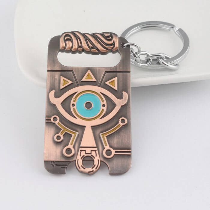 The Legend of Zelda Sheikah Slate Breath of the Wild Keychain Cosplay Pendant Keyring Key Chain Necklace 4