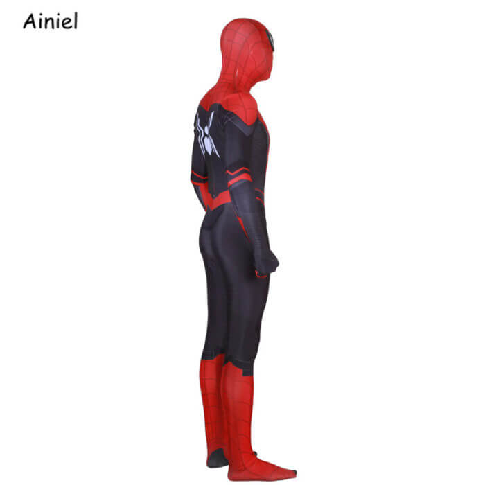 Adult Spider Suit Far From Home Peter Parker Cosplay Costume Mask Zentai Spiderman Superhero Jumpsuits Halloween Man Kids 5
