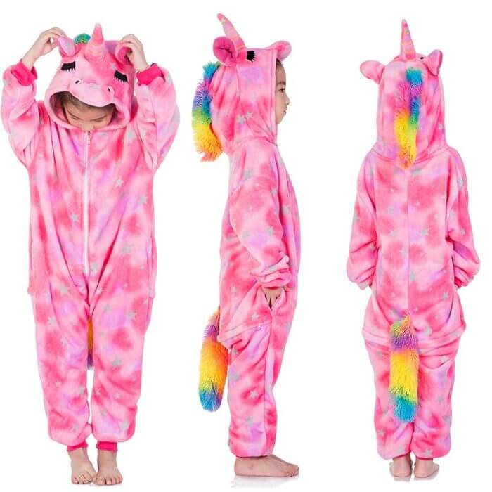 Kigurumi Pajamas Panda Children Girls Unicorn Pajama Boys Stitch Oneises Pijamas Unicornio for 4 6 8 10 12Years Stitch Costume 6