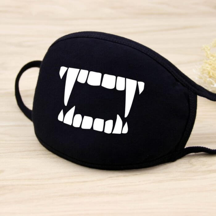 Cotton Dust Mask Cartoon Expression Teeth Muffle Chanyeol Face Respirator Anti Kpop Bear Mouth Mask 3
