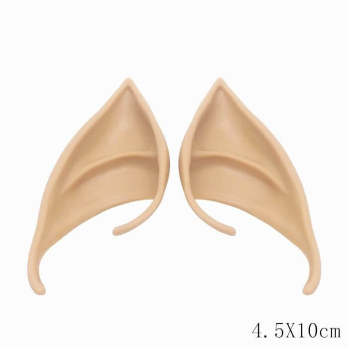 1 Pair Elf Ears fairy Cos Mask Cosplay Accessories Latex Soft Prosthetic False Ear Halloween Party Masks 3