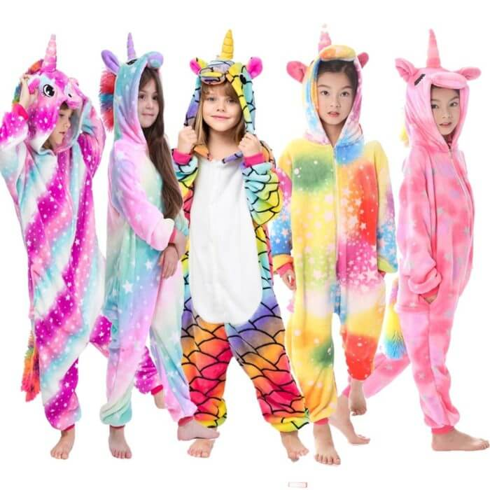 Kigurumi Pajamas Panda Children Girls Unicorn Pajama Boys Stitch Oneises Pijamas Unicornio for 4 6 8 10 12Years Stitch Costume 2