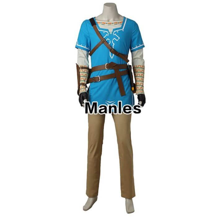The Legend of Zelda Breath of the Wild Link Cosplay Costume Anime Uniform Halloween Carnival Cosplay Adult Men Blue Shirt Unisex 2