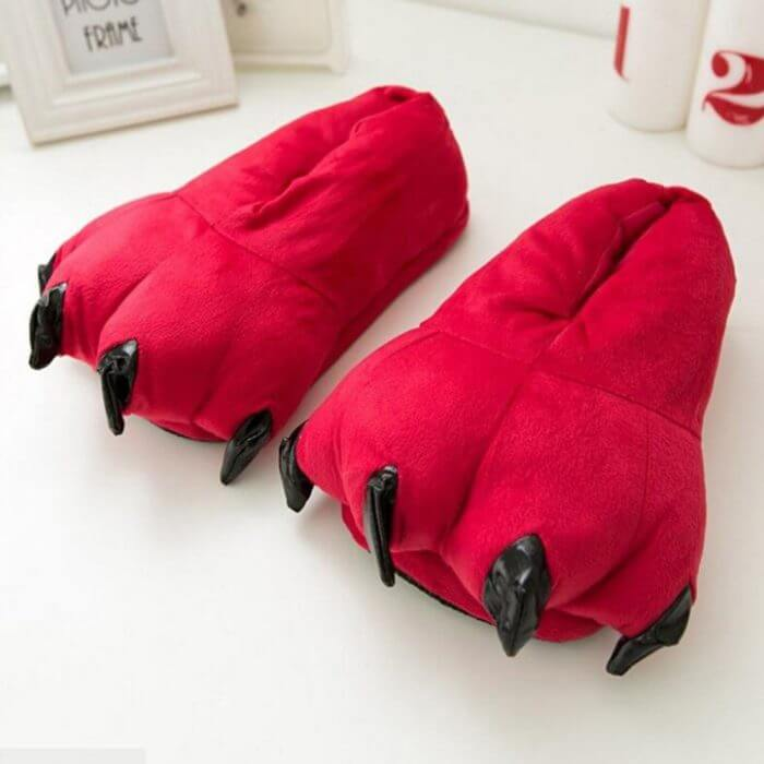 2018 Winter Warm Soft indoor floor Slippers Women Men Children Shoes Paw Funny Animal Christmas Monster Dinosaur Claw Plush Home 1