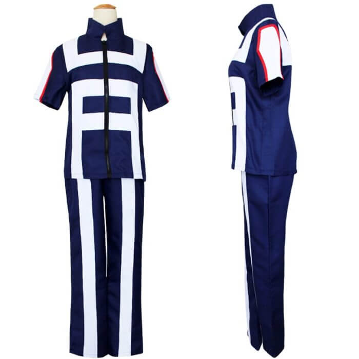 My Hero Academia Boku no Hero Cosplay Costume Men Women School Uniform Gym Suit Tshirt Pants Midoriya Izuku Todoroki Shouto 4