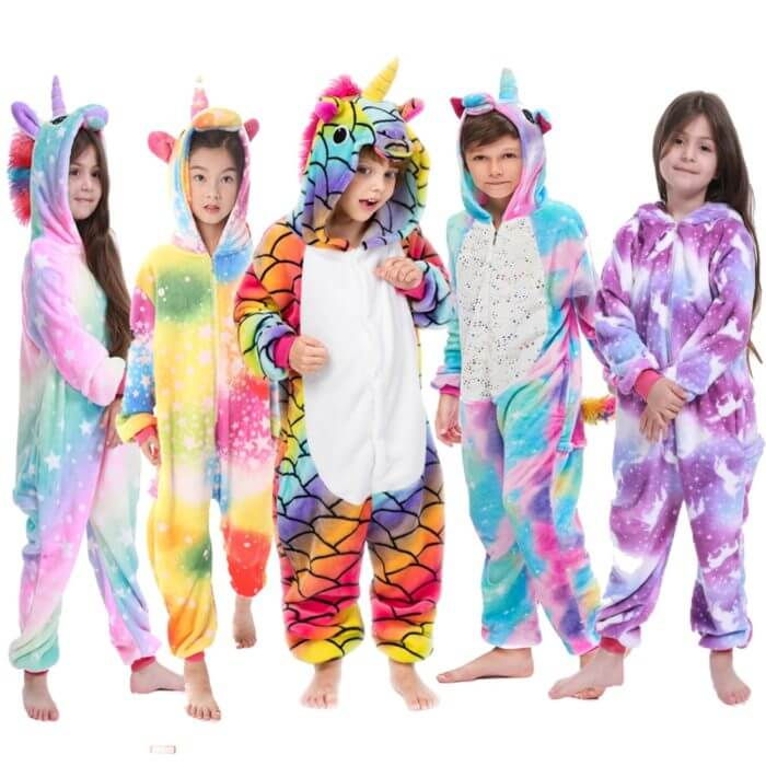 Kigurumi Pajamas Panda Children Girls Unicorn Pajama Boys Stitch Oneises Pijamas Unicornio for 4 6 8 10 12Years Stitch Costume 1