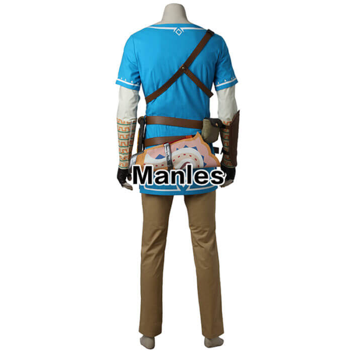 The Legend of Zelda Breath of the Wild Link Cosplay Costume Anime Uniform Halloween Carnival Cosplay Adult Men Blue Shirt Unisex 3