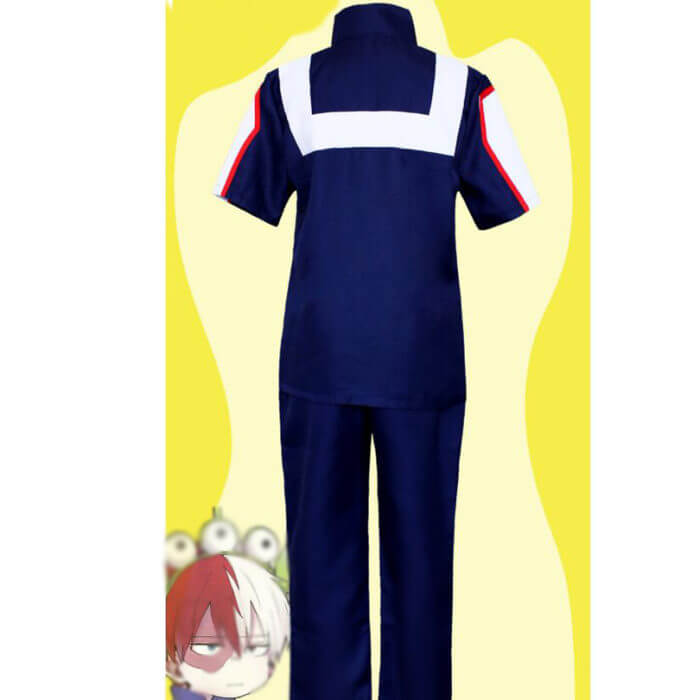 My Hero Academia Boku no Hero Cosplay Costume Men Women School Uniform Gym Suit Tshirt Pants Midoriya Izuku Todoroki Shouto 2
