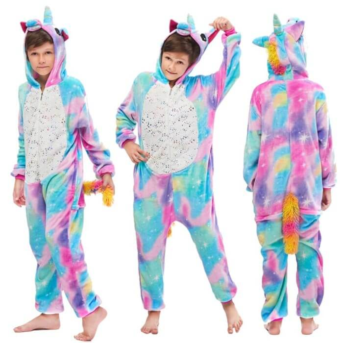 Kigurumi Pajamas Panda Children Girls Unicorn Pajama Boys Stitch Oneises Pijamas Unicornio for 4 6 8 10 12Years Stitch Costume 5