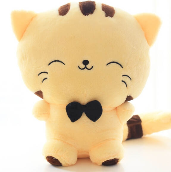 20CM Cute Kawaii Cat with Bow Plush Dolls Toys Gift Stuffed Soft Doll Cushion Sofa Pillow Gifts Xmas Gift Party Decor 8