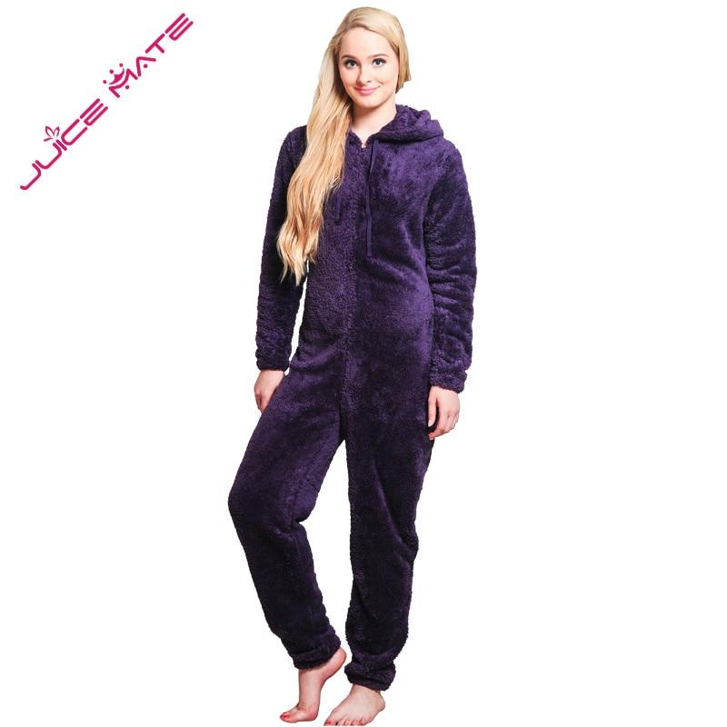 Winter Warm Pyjamas Women Onesies Fluffy Fleece Jumpsuits Sleepwear Overall Plus Size Hood Sets Pajamas Onesie For Women Adult 4