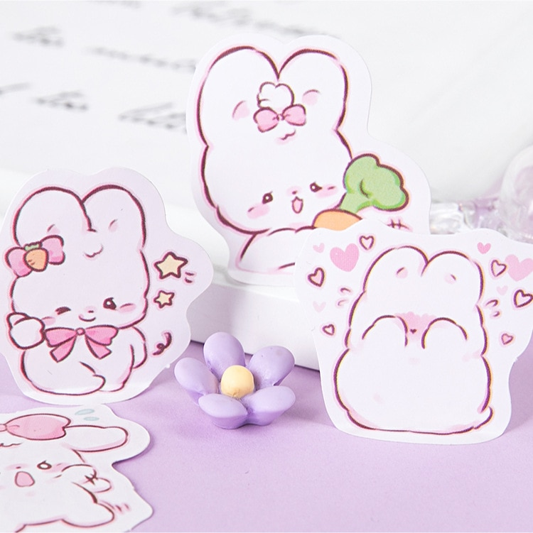 45 pcs/box Cute rabbit daily Kawaii Decoration Stickers Planner Scrapbooking Stationery Korean Diary Stickers 3