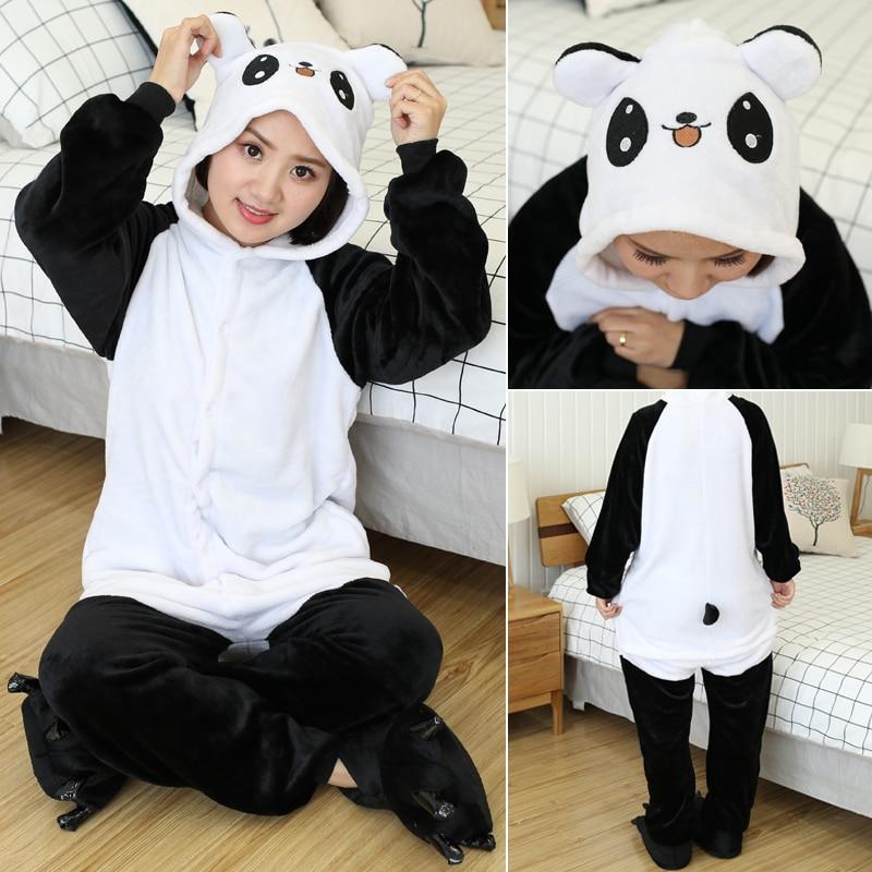Kigurumi Women Unicorn Onesies Unisex Winter Panda Onesies Kids Nightwear Anime Costumes Adults Flannel Sleepwear Men Pajamas 5