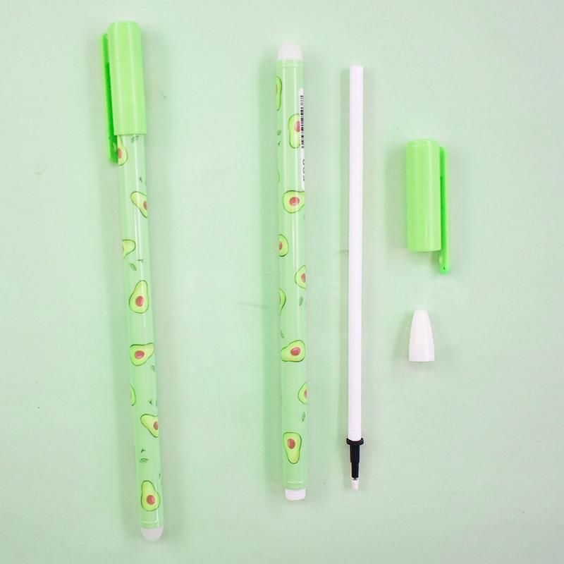 2 Pcs Kawaii Fruit Neutral Pen Cute Avocado Gel Pen 0.5mm Black Blue Ink Pen For Kids Gifts School Office Stationery Supplies 5