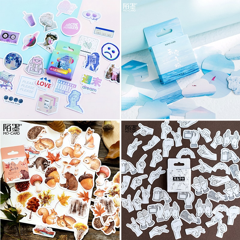 45 pcs/Box Various Stickers Cute Kawaii Planner Journal Diary  Scrapbooking Paper Stickers Stationery 4