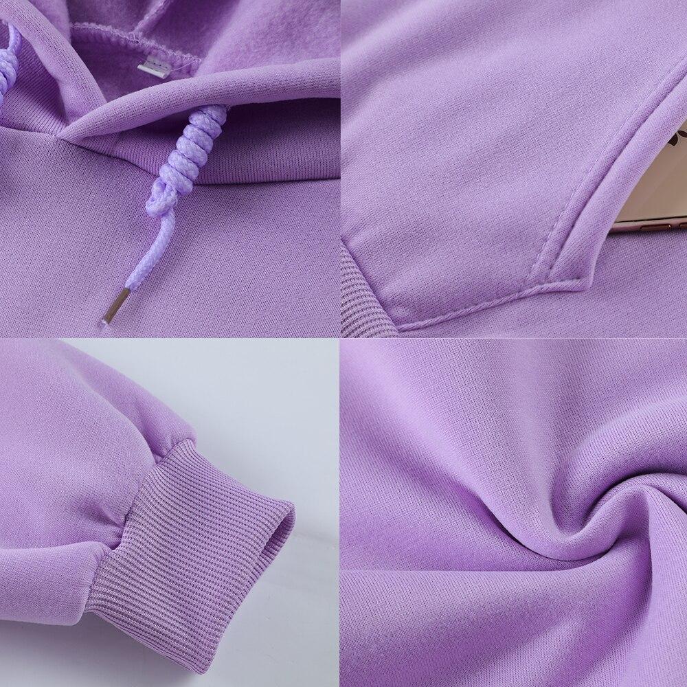 Harajuku Strawberry Embroidery Lavender Pink Sweatshirt Autumn Winter Women Kawaii Loose Long Sleeves Tops Oversized Hoodies XXL 6