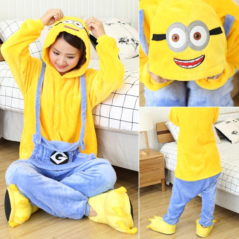 Kigurumi Women Unicorn Onesies Unisex Winter Panda Onesies Kids Nightwear Anime Costumes Adults Flannel Sleepwear Men Pajamas 2