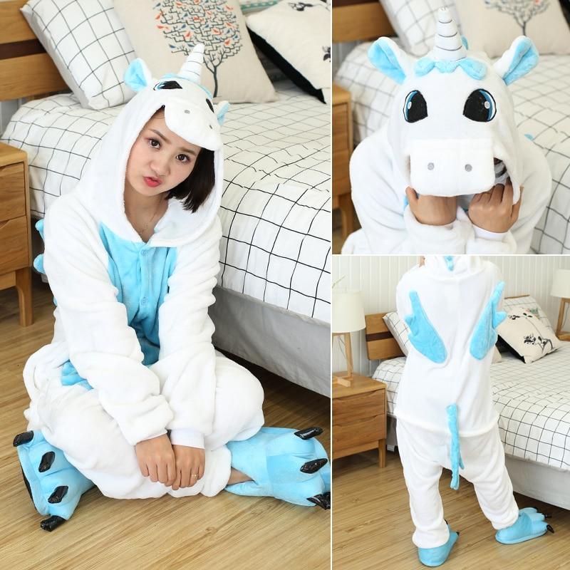 Kigurumi Women Unicorn Onesies Unisex Winter Panda Onesies Kids Nightwear Anime Costumes Adults Flannel Sleepwear Men Pajamas 4
