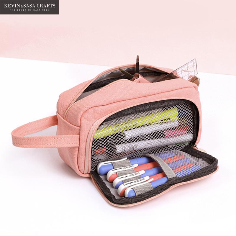 20 Colors Large Capacity Pencil Case Kawaii Pencilcase School Pen Case Supplies Pencil Bag School Box Pencils Pouch Stationery 2