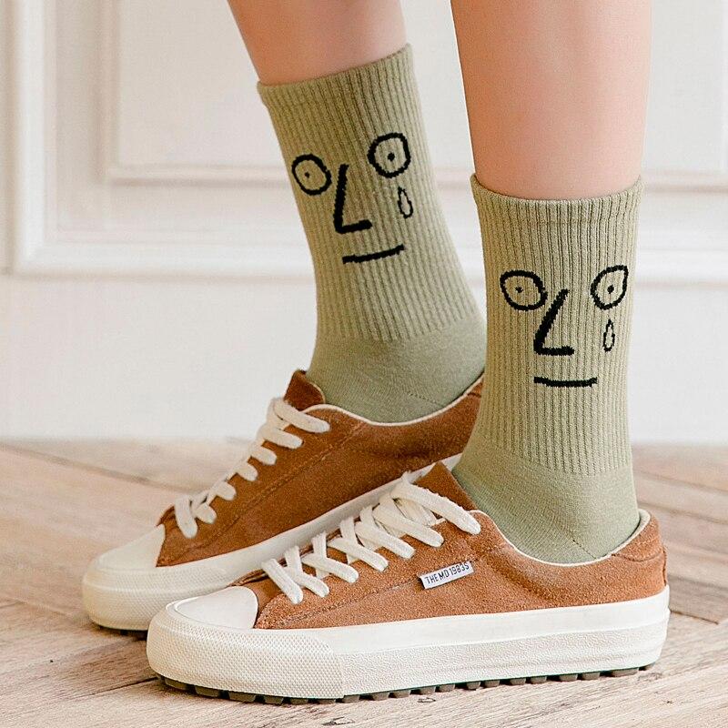 Unisex Surprise Mid Women Socks Harajuku Colorful Funny Socks Women 100 Cotton 1 Pair Kawaii Size 35-42 3