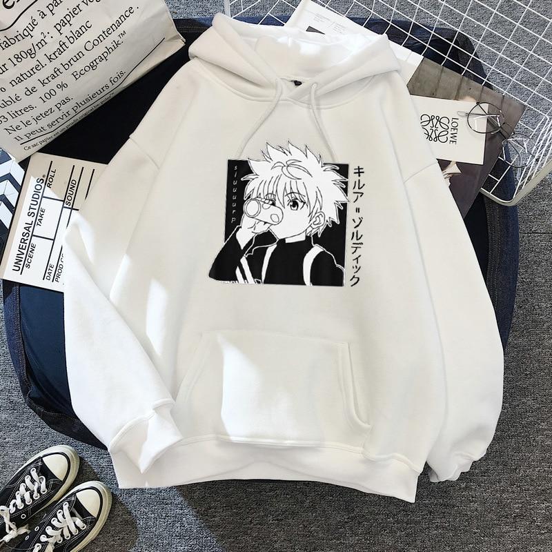 Kawaii Hunter X Hunter Hoodies Sweatshirt Killua Zoldyck Anime Manga Black Hoodies Bluzy Tops Clothes 3
