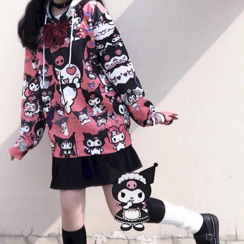 Autumn Thin Hoodies Cute Kpop Women Men Harajuku Sweatshirts Japan Hip Hop Hoodie Pocket Casual Pullovers Tops Kawaii Hoodies 2