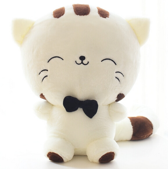 20CM Cute Kawaii Cat with Bow Plush Dolls Toys Gift Stuffed Soft Doll Cushion Sofa Pillow Gifts Xmas Gift Party Decor 1