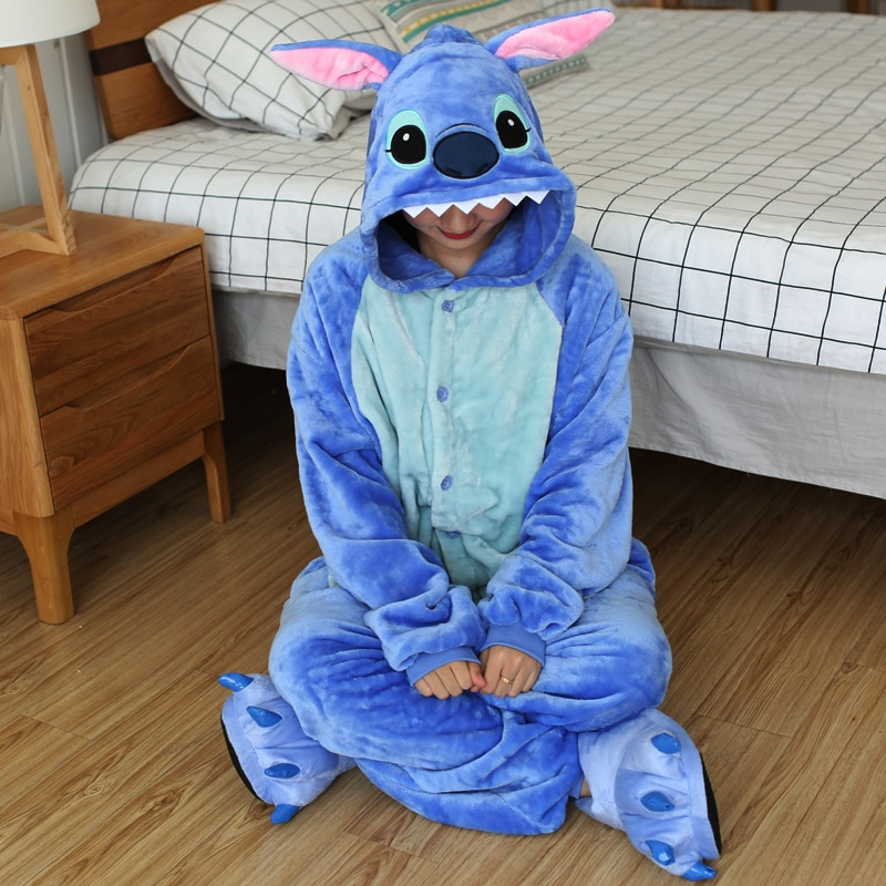Kigurumi Women Unicorn Totoro Onesies Unisex Winter Bear Onesies Kids Nightwear Anime Costumes Adults Flannel Sleepwear Pajamas 1