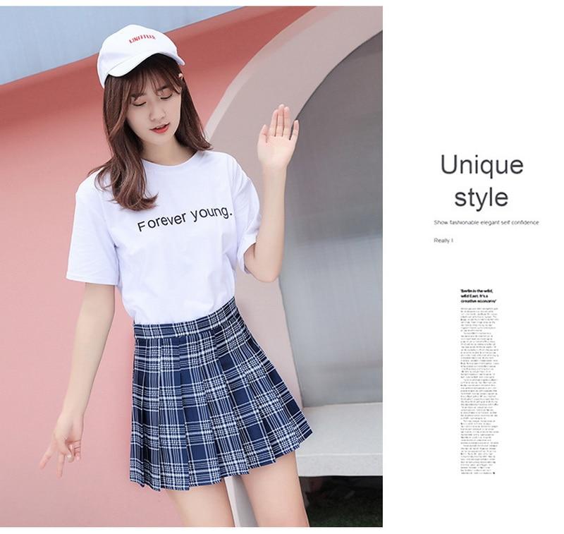 Summer Women Skirt Preppy Style Plaid Pleated Skirts for Girls Cute Japanese School Ladies Kawaii Mini Skirt Women 10