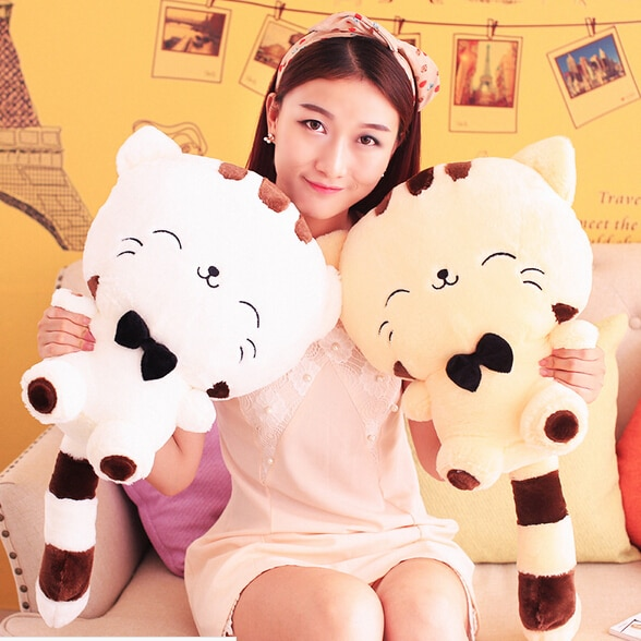 20CM Cute Kawaii Cat with Bow Plush Dolls Toys Gift Stuffed Soft Doll Cushion Sofa Pillow Gifts Xmas Gift Party Decor 5