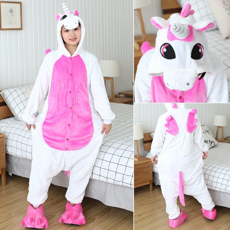 Kigurumi Women Unicorn Onesies Unisex Winter Panda Onesies Kids Nightwear Anime Costumes Adults Flannel Sleepwear Men Pajamas 3