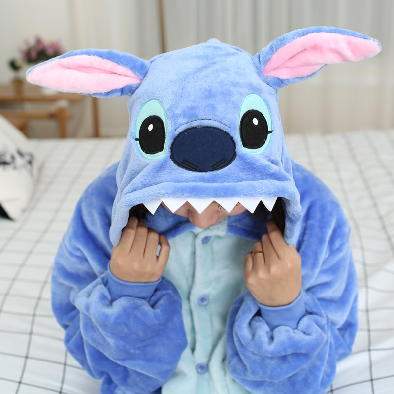 Kigurumi Women Unicorn Totoro Onesies Unisex Winter Bear Onesies Kids Nightwear Anime Costumes Adults Flannel Sleepwear Pajamas 2
