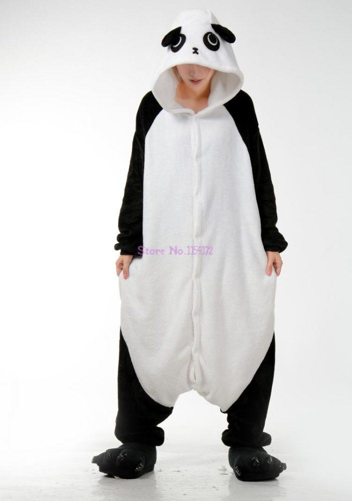 Adults Animal Pajamas Sets Cartoon Sleepwear Unicorn Onesies Stitch Kigurumi Unicornio Women Men Warm Flannel Hooded 19