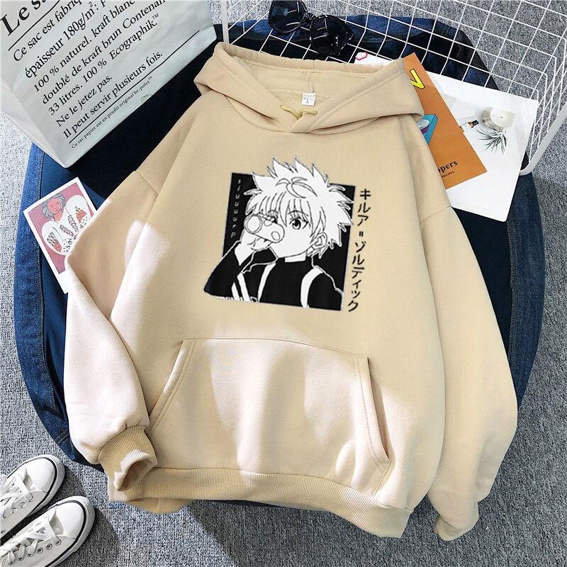 Kawaii Hunter X Hunter Hoodies Sweatshirt Killua Zoldyck Anime Manga Black Hoodies Bluzy Tops Clothes 5