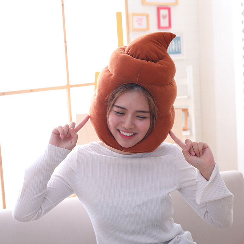 Poop Hat Brown Funny Headwear For Party Unisex 1