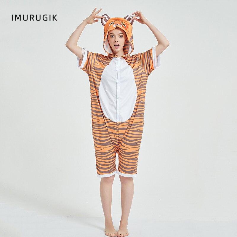Cosplay Costumes Kigurumis Onesie Jumpsuits Tiger Adult Costume Animal Home wear Pajama Funny Cute Oneises Halloween Carnival 4