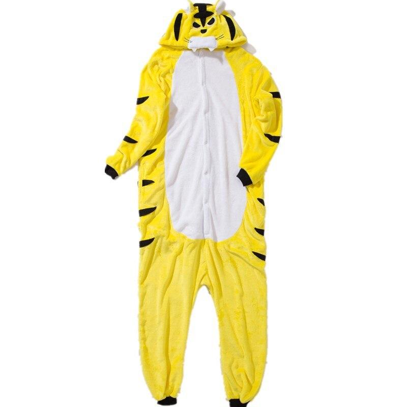 Kigurumis Onesies Sleepwear for Adult Cartoon Funny Tiger Pajama Suit Women Onesie Button Winter Homewear Jumpsuit Onepiece 3