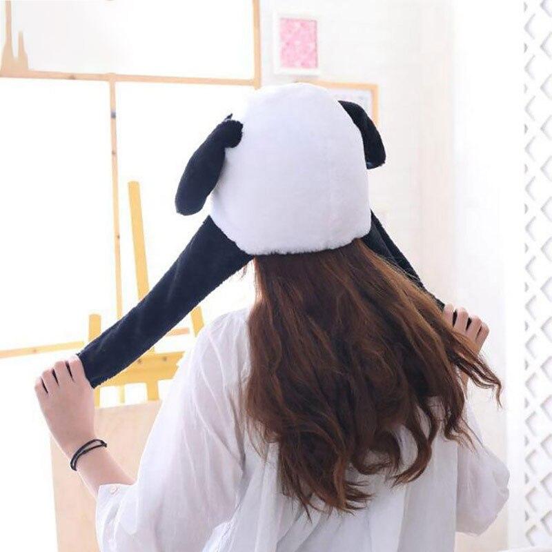 Panda Hat Ears Waggle Cute Funny Headgear Women Men Winter Warm Headwear Animal Cosplay Prop 2