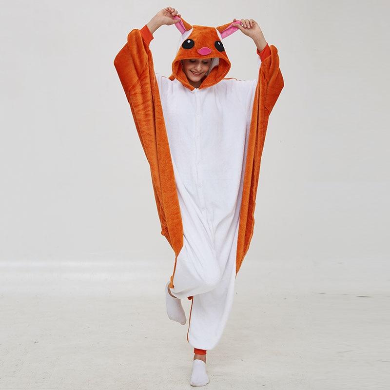 Kigurumis Women Pajama Animal Flying Rat Onepiece Men Adult Flannel Winter Sleepwear Wings Cosplay Funny Homewear Costume Appare 1